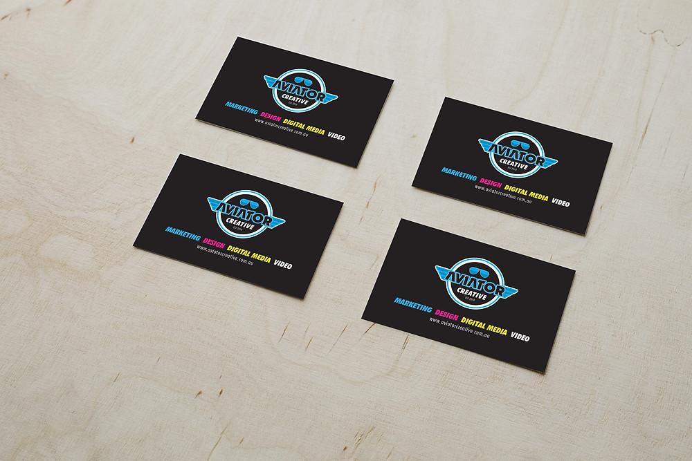 Business Card Design - Aviator Creative