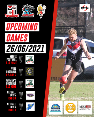 Upcoming Games Graphic - South Belgrave FNC