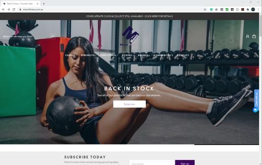 Manic Fitness Website