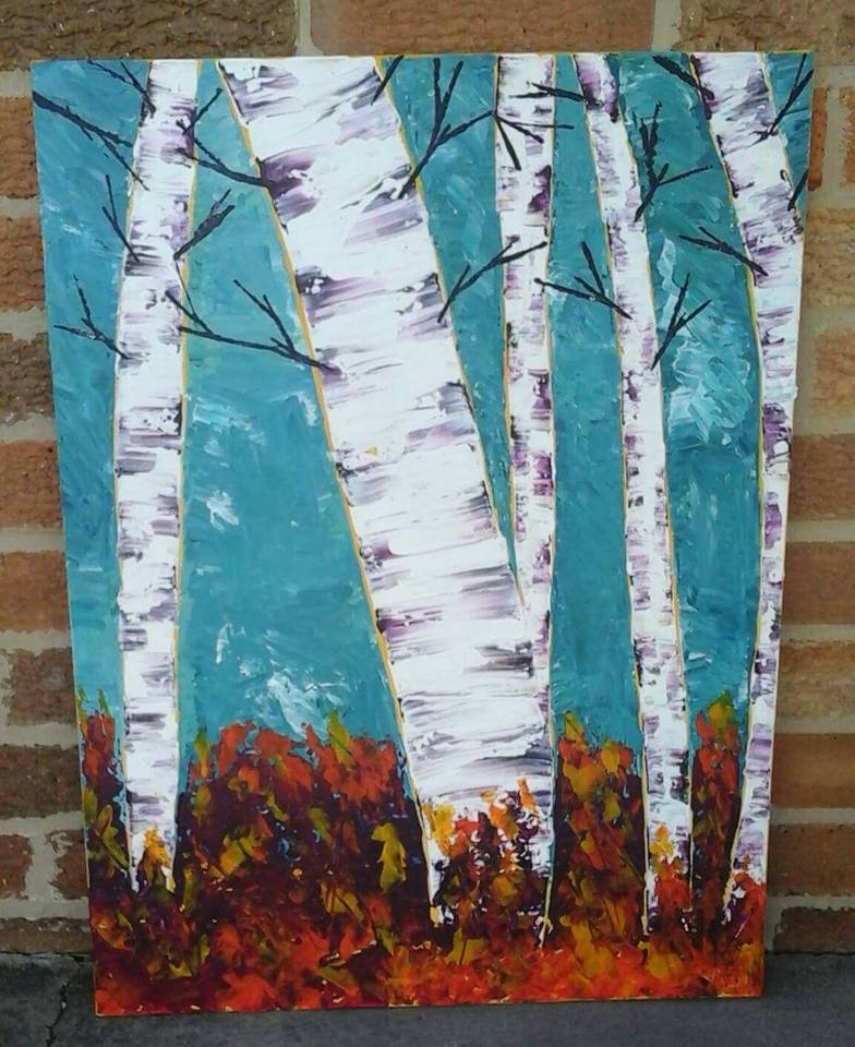 Fall Birch Trees