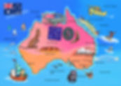 Map of Australia activities landmarks