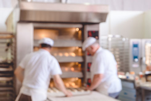 Blurred bakery shop in wholesale store w