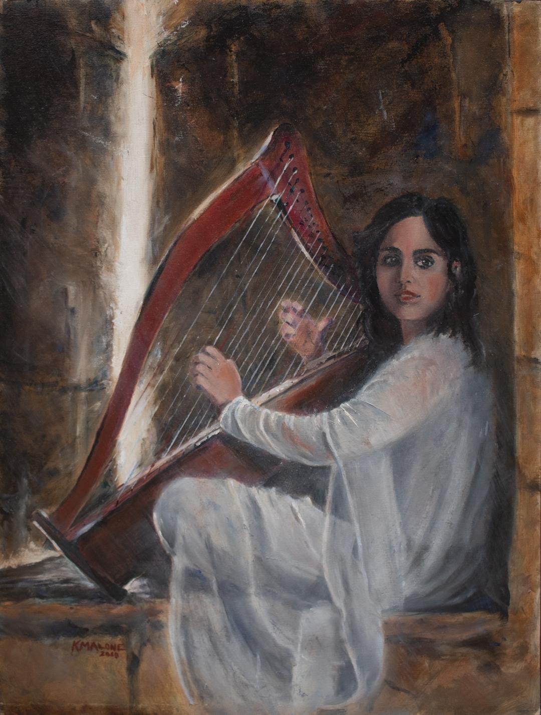 SOLD -Jaffa Gate Harpist