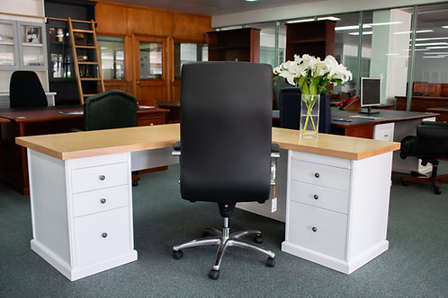 Classic Twin Pedestal Desk and Return