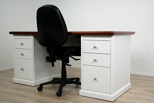 Classic Style Twin Pedestal Desk