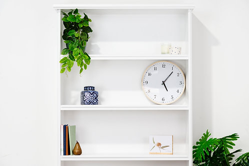 Ascot Open Bookshelf White