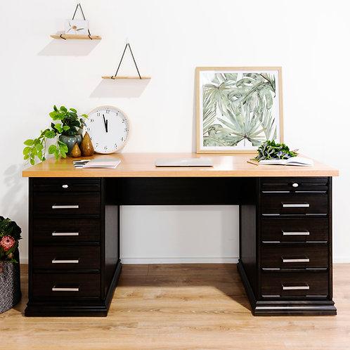 Victorian Style Twin Pedestal Desk