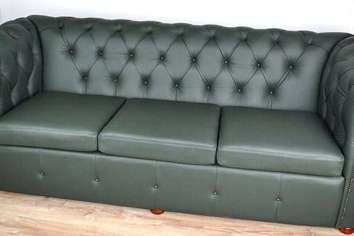3-Seater Chesterfield Leather Lounge Chair
