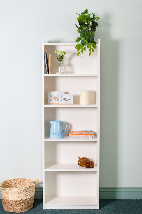 Gable Style Bookcase in White