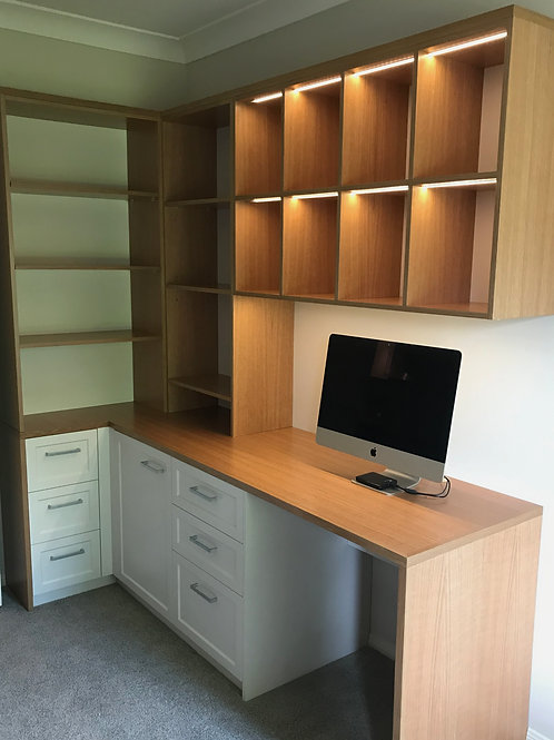 Infinity Style Desk and Wall Unit
