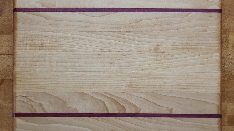 Maple & Purple Heart Cutting Board