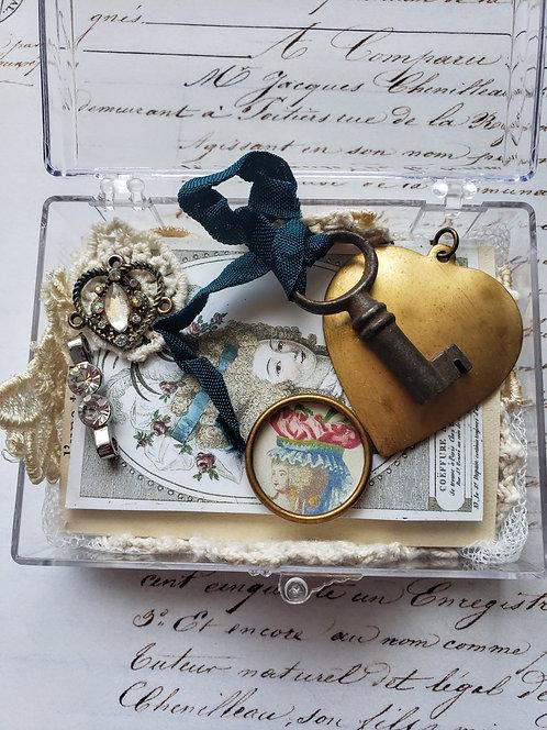 Vintage Brass Heart Supply Box