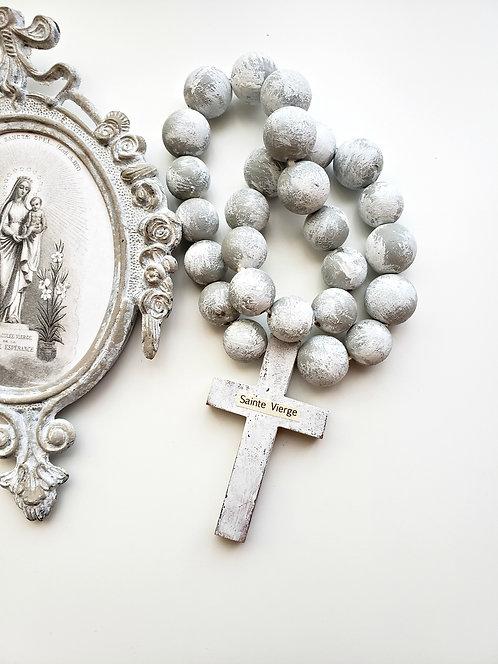 Prayer Beads with Wood Cross