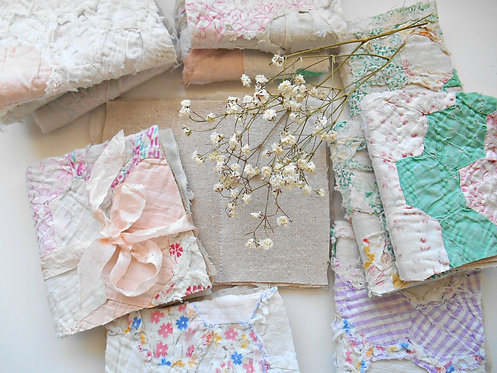 Shabby Vintage Quilt Fabric Journals