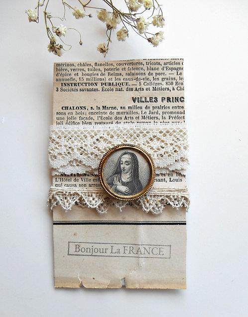 Vintage Authentic Religious Pin & Trims
