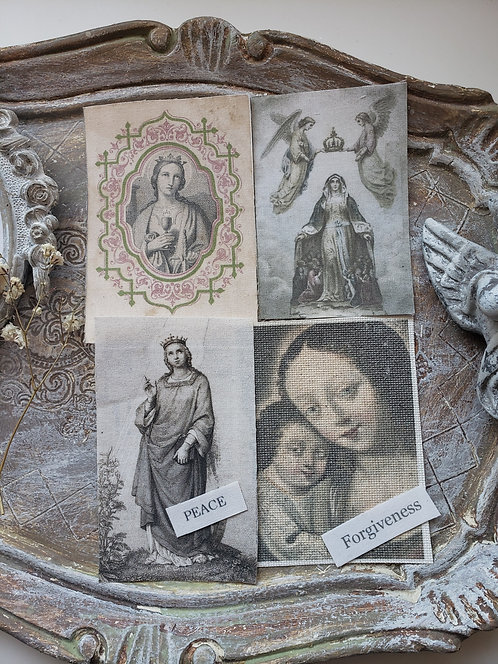 4 Religious Fabric Images PF005