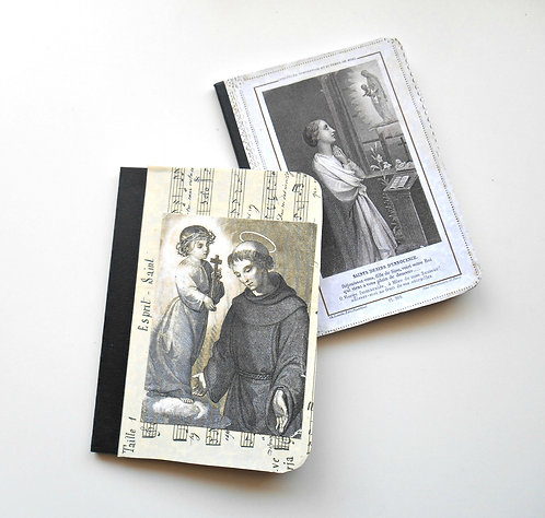 """Set of 2 Small Altered Notebooks """"Faith"""""""