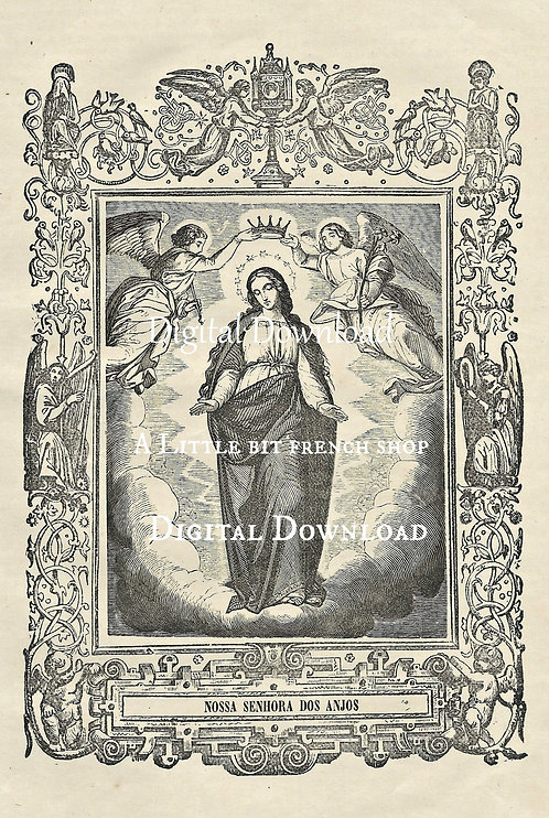 Digital Download Antique Religious Engraving
