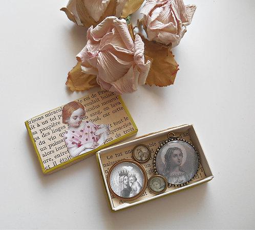 Petite Vintage Box of Supplies Religious Theme