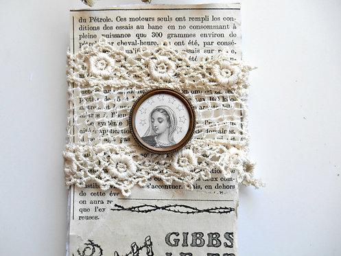 Vintage Religious Pin & Trim
