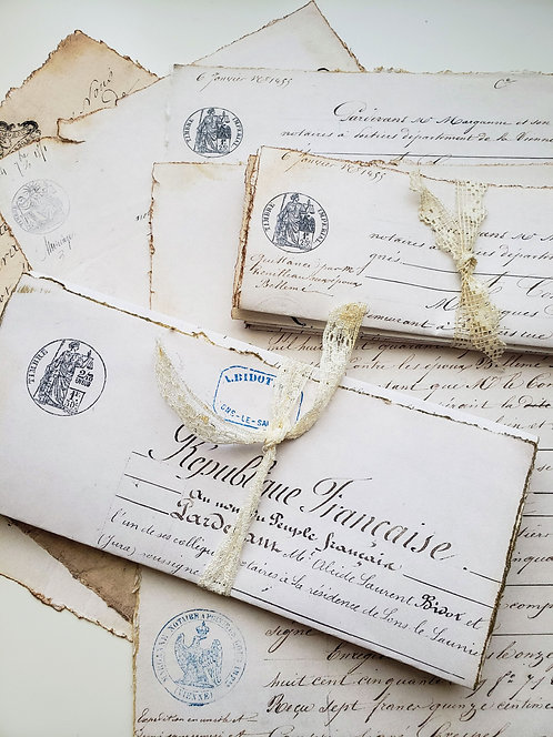 One Bundle Reproduced French Letters Documents