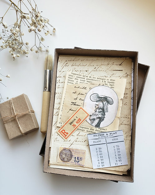 La French Ephemera Photo Box  RESERVED for Virginia