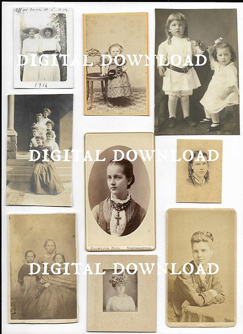 Antique Photos Women Children Digital Download
