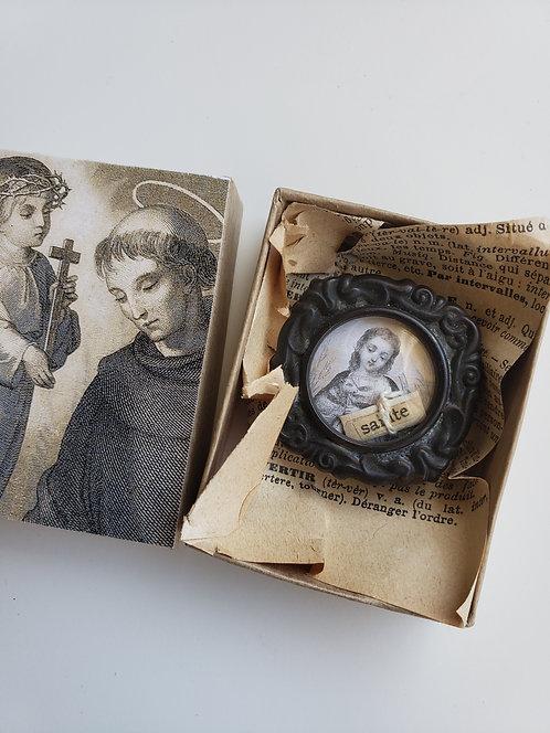 Vintage Religious Reliquary Jesus