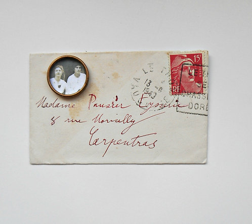 Petite Vintage French Envelope with Photo Bezel #FR