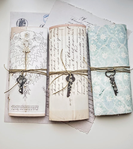 One Set of Reproduced Aged French Documents w/Key
