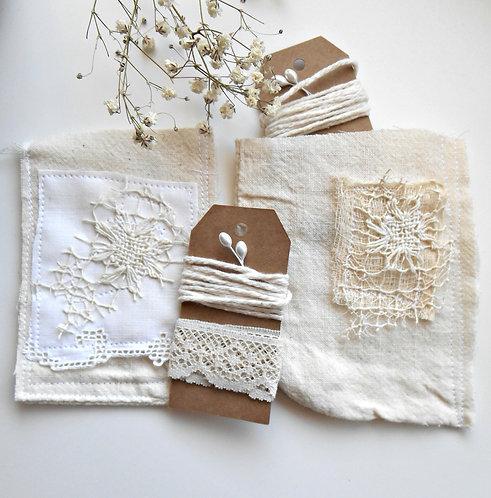 2 Stitched Shabby Pockets #1