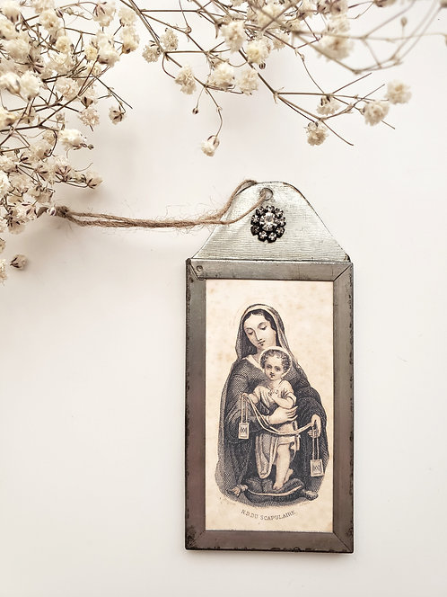 Metal Frame with Mother & Child