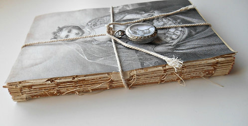Religious Set 1 Altered Book with 1 Double Sided Pendant