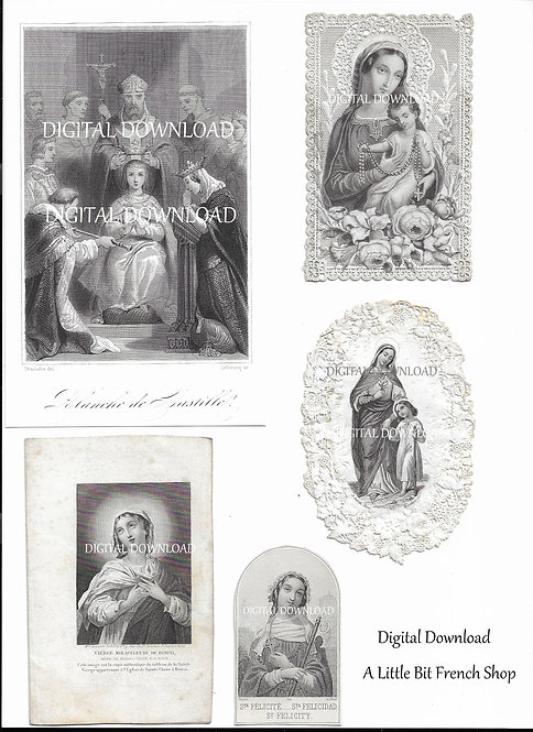Digital Download Antique Holy Cards & Engraving