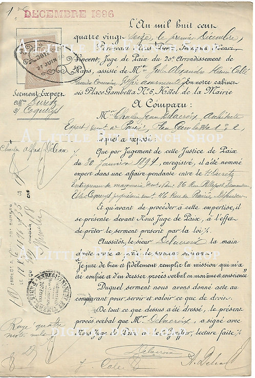 Digital Download Antique French Document 01