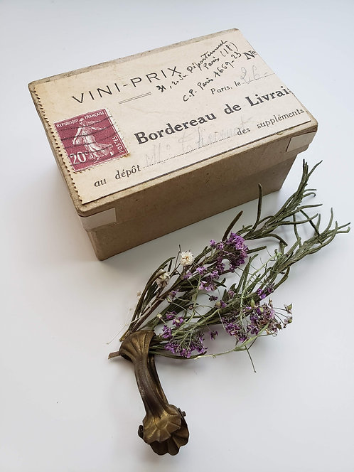 Altered Box French Ephemera #VIN