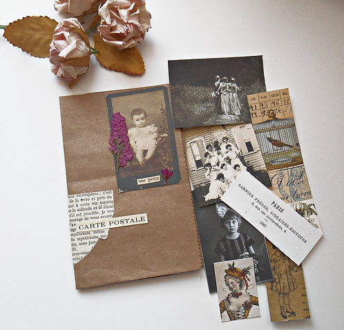 Brown Bag Folder with Images #BB
