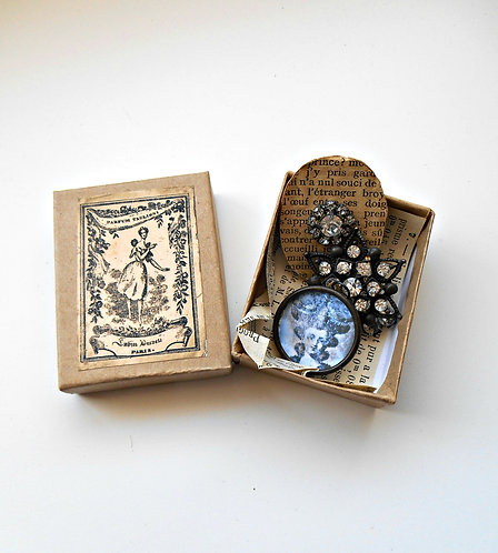 Petite Box with Tarnished Pieces #202