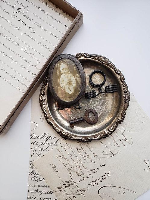 Vintage Tarnished Small Coaster Bundle