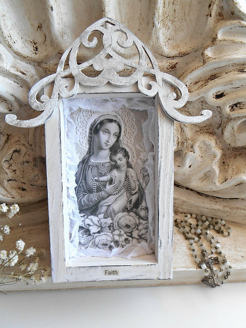 Petite Shrine Mother Mary & Child
