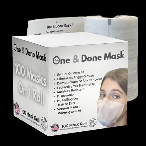 Strapless Antifog Disposable 100 Mask Package