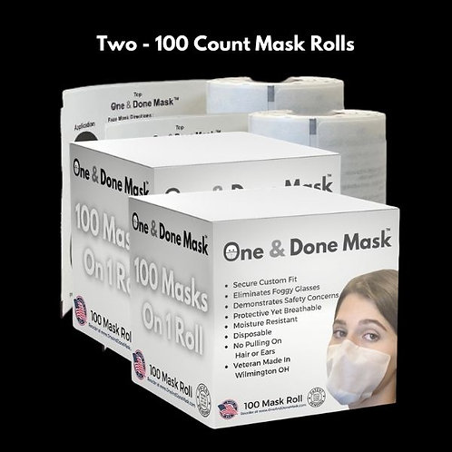 Strapless Antifog Disposable 200 Mask Package