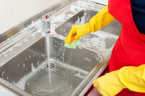 Clean your kitchen sink everyday
