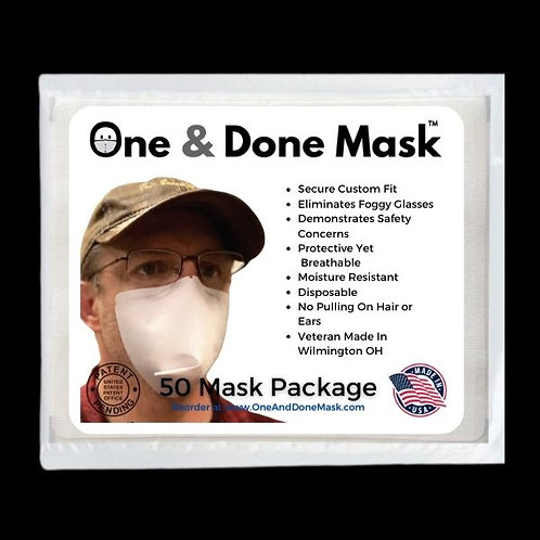 Strapless Antifog Disposable 50 Mask Package