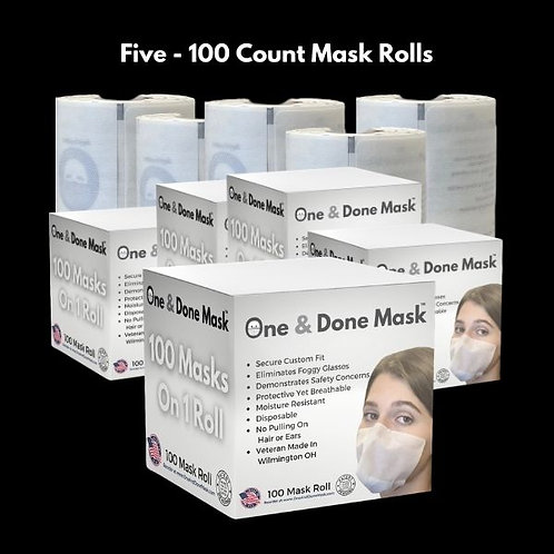 Strapless Antifog Disposable 500 Mask Package