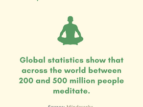 More and more people are meditating!