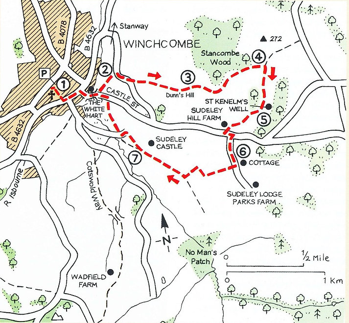 Walk from the Cotswold village of Winchcombe around Sudeley Castle