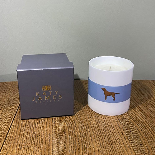 Chocolate Labrador Candle - Rhubarb & Plum