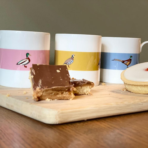 Game Bird Trio of Mugs