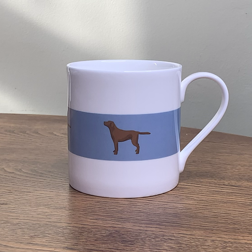 "Chocolate Labrador Mug ""Fudge"""
